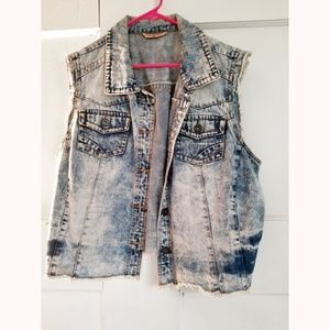 Highway jeans distressed denim vest